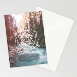 River Triangulation Stationery Cards