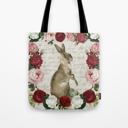 Vintage Easter Bunny Tote Bag