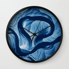Mississippi Meander Blues 1 Wall Clock