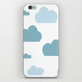 Cloud blue iPhone Skin
