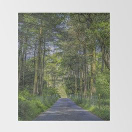 Road To Happiness Throw Blanket