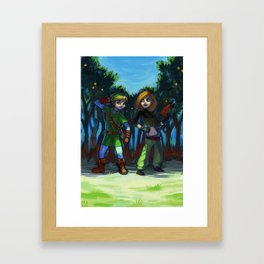 Crazy Crossover Framed Art Print