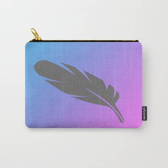 Feather on Gradient Carry-All Pouch