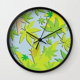 The world of cannabis II Wall Clock