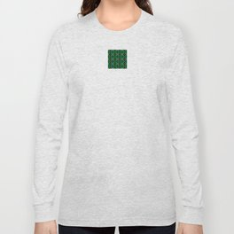 Snowflakes III in Greens Long Sleeve T-shirt