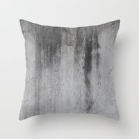 concrete Throw Pillows featuring Concrete by Shamgar