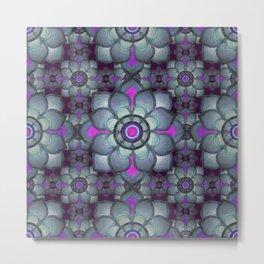 Bluish floral pattern Metal Print