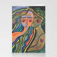 lovers Stationery Cards featuring lovers by sladja
