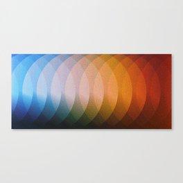 Circle Blend Colors Canvas Print