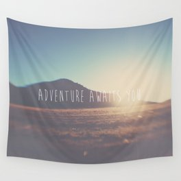 adventure awaits you ... Wall Tapestry