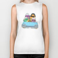 vampire weekend Biker Tanks featuring Holiday Vampire Weekend by Pily Clix