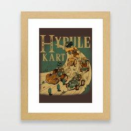 Hyrule Kart Framed Art Print