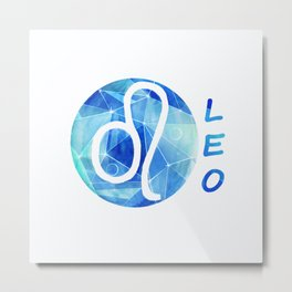 Leo. lion. Sign of the zodiac. Metal Print