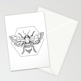 Pen&Ink Bee Tattoo Stationery Cards