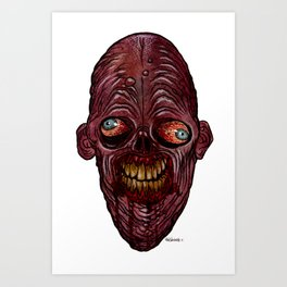 Heads of the Living Dead Zombies: Igor Zombie Art Print