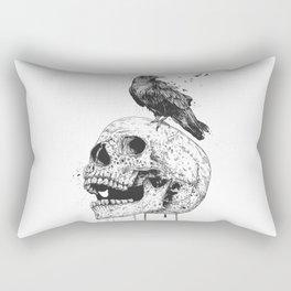 New skull (bw) Rectangular Pillow