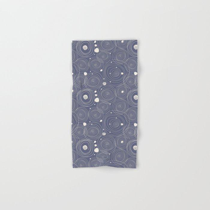 Blue Scribbles Pattern 08 Hand & Bath Towel