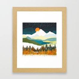 Winters Night Framed Art Print