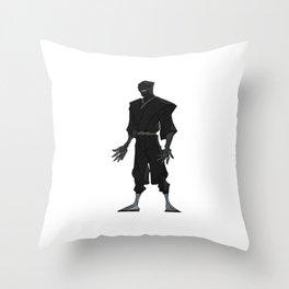 Deadly Ninja Assassin Throw Pillow