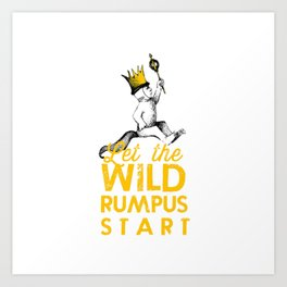 picture about Let the Wild Rumpus Start Printable identified as Rumpus Artwork Prints Lifestyle6