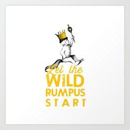 photo regarding Let the Wild Rumpus Start Printable known as Rumpus Artwork Prints Lifestyle6