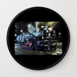 Signaling With Lantern. Lantern Up. UP 9000. Union Pacific. Steam Train Locomotive. © J. Montague. Wall Clock