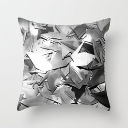 Senbazuru | black and white Throw Pillow