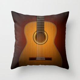 Classic Guitar Throw Pillow