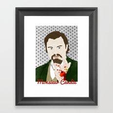 Monsieur Candie from Django Unchained Framed Art Print