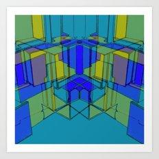 Cube Geometric II Art Print