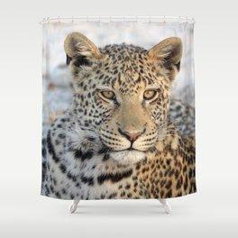 Female leopard in Namibia, Africa Shower Curtain