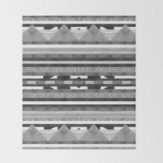 DG Aztec No.2 Monotone Throw Blanket