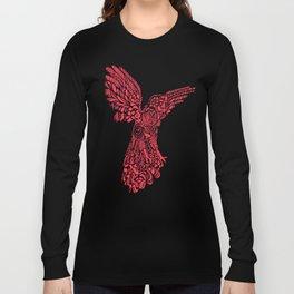 Gallito de las rocas peruvian bird red version by #Bizzartino Long Sleeve T-shirt