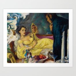 Classical Masterpiece 'Lord Hornblower' by Benjamon Stahl Art Print