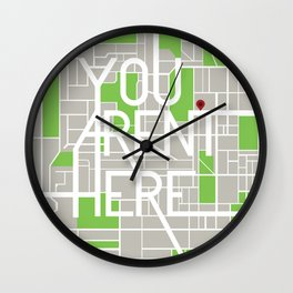 You Aren't Here Wall Clock