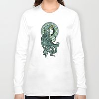 nouveau Long Sleeve T-shirts featuring Zelda Nouveau by Karen Hallion Illustrations