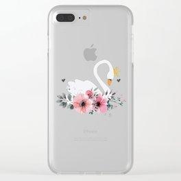 Swan Queen Clear iPhone Case