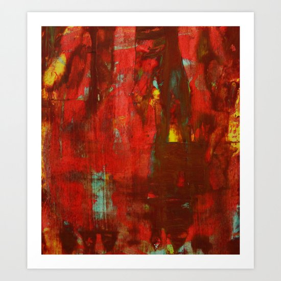 Abstract Painting 17 Art Print