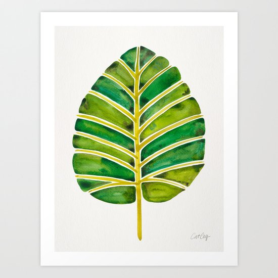 Elephant Ear Alocasia – Green Palette Art Print