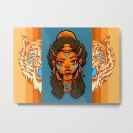 Scarab Queen & Ghost Tiger Metal Print
