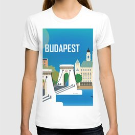 Budapest, Hungary - Skyline Illustration by Loose Petals T-shirt