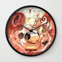 bouletcorp Wall Clocks featuring In Utero by Bouletcorp