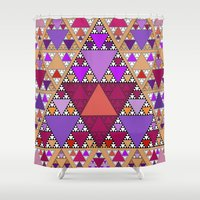 triangle Shower Curtains featuring Triangle by Anne Seltmann