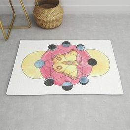 Moon, Moth, and Geometric Rug