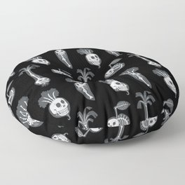X-rays vegetables (black background) Floor Pillow