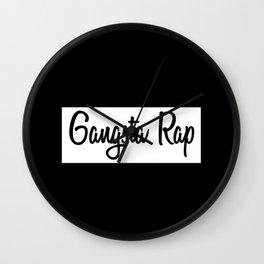Gangsta Rap Wall Clock