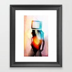 SEX ON TV - BLACKY by ZZGLAM Framed Art Print