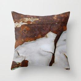 Cracking Rust 2 Throw Pillow