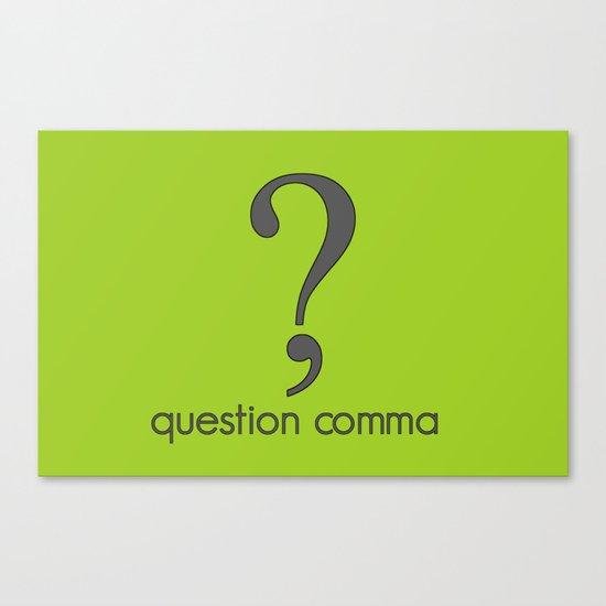 Question Comma Canvas Print