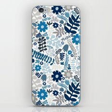 blue and natural wildflowers iPhone Skin